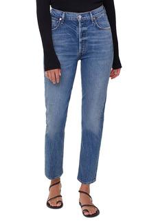 Citizens of Humanity High Waist Straight Leg Jeans (Tinker Medium Indigo)