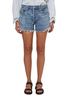 Citizens of Humanity Marlow Distressed High Waist Denim Shorts (Seaward)