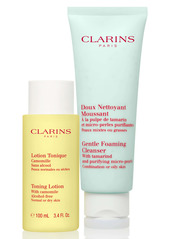 Clarins Cleansing Sensations Duo for Combination/Oily Skin (USD $39 Value)