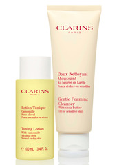 Clarins Cleansing Sensations Duo for Dry/Sensitive Skin (USD $39 Value)