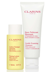 Clarins Cleansing Sensations Duo for Normal/Combination Skin (USD $39 Value)