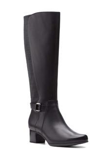 Clarks® Unstructured Damson Waterproof Knee High Boot (Women)