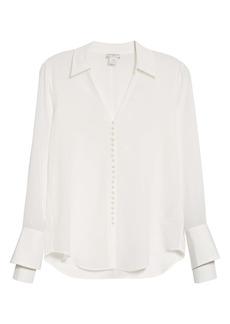 Club Monaco Helen Button-Up Silk Blouse