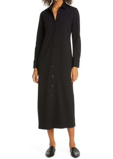 Club Monaco Knit Button-Up Midi Dress
