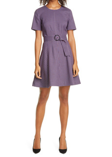 Club Monaco Plaid Belt Dress