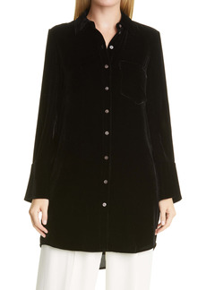 Club Monaco Velvet Long Sleeve Tunic Dress