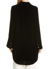 Club Monaco Velvet Long Sleeve Tunic Dress