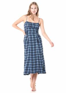 C/Meo Collective Women's Define Shirred Midi Slip Dress  M