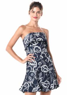 C/Meo Collective Women's Discretion Strapless Popover Flared Mini Dress  S