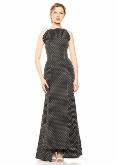 C/Meo Collective Women's Even Love Embroidered Strapless Fitted Long Dress  m