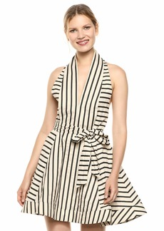C/Meo Collective Women's High As Hope Halter Plunging Fit & Flare Mini Dress  m