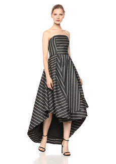 C/Meo Collective Women's Moments Apart Strapless High Low Fit and Flare Party Dress  L