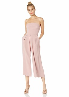 C/Meo Collective Women's Next Step Strapless Wide Leg Cropped Culotte Jumpsuit  S