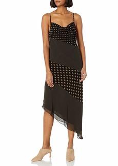 C/Meo Collective Women's Palatial Sleeveless Asymmetrical Midi Slip Dress  M