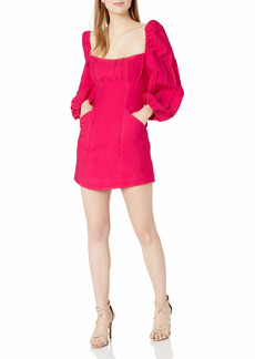 C/Meo Collective Women's Puff Sleeve Mini Dress  L