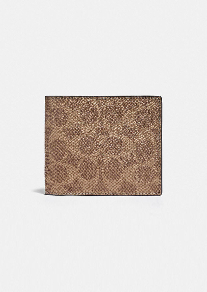 Coach 3-in-1 wallet in colorblock signature canvas