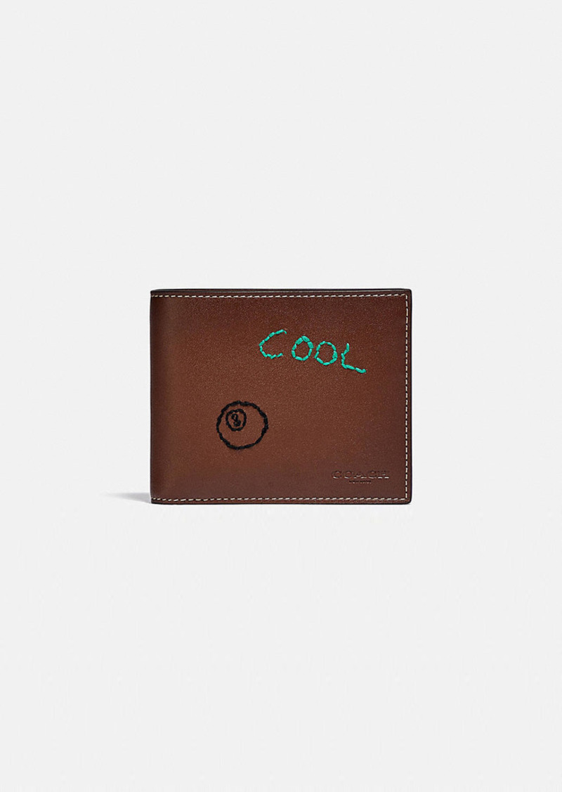 Coach 3-in-1 wallet with embroidery
