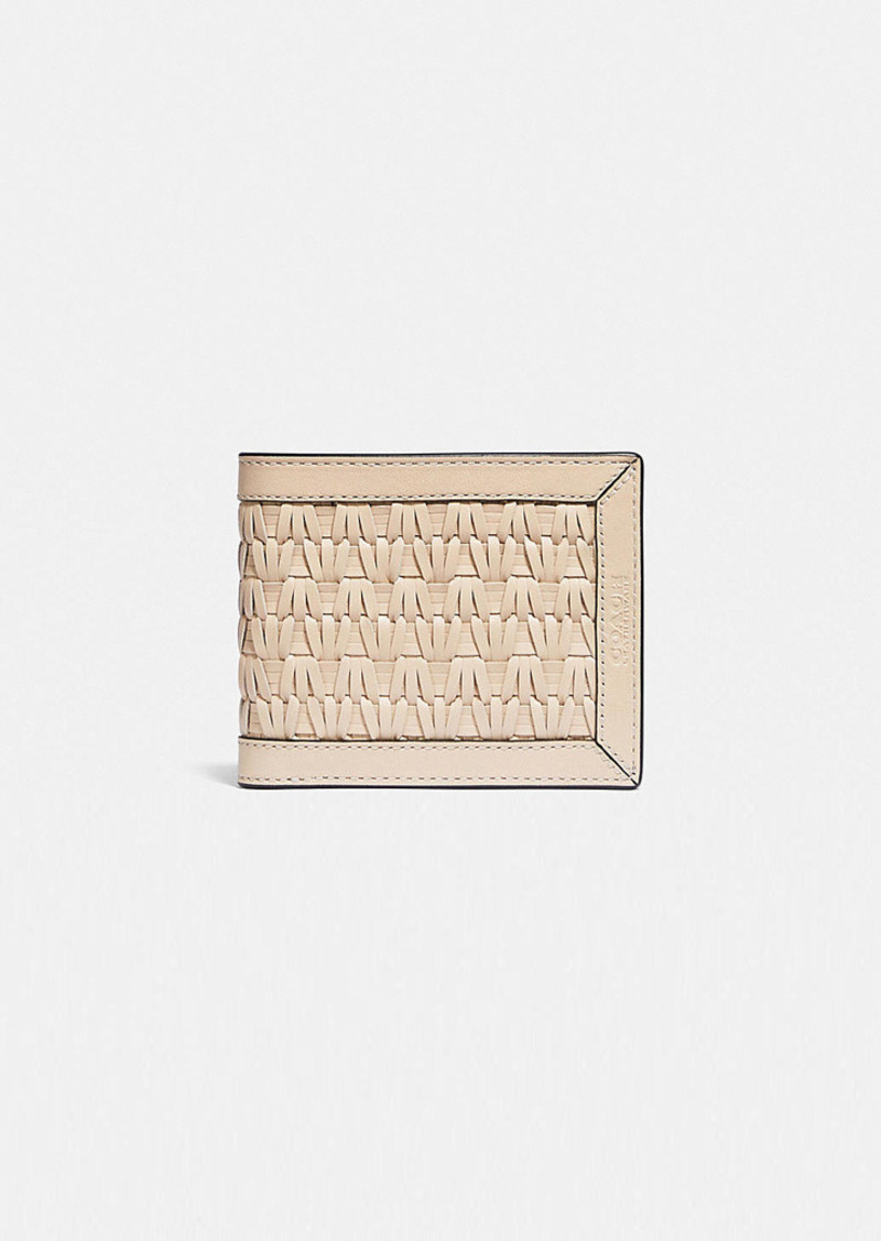 Coach 3-in-1 wallet with weaving