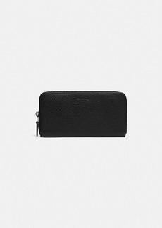 Coach accordion wallet with signature canvas interior