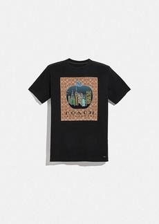 Coach apple signature t-shirt