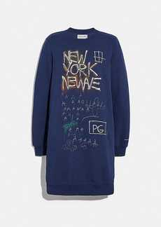 coach x jean-michel basquiat sweatshirt dress