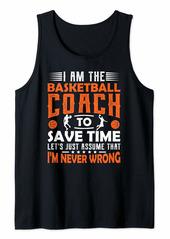 Basketball Coach Gifts Men Women Coaching Motivation Teacher Tank Top