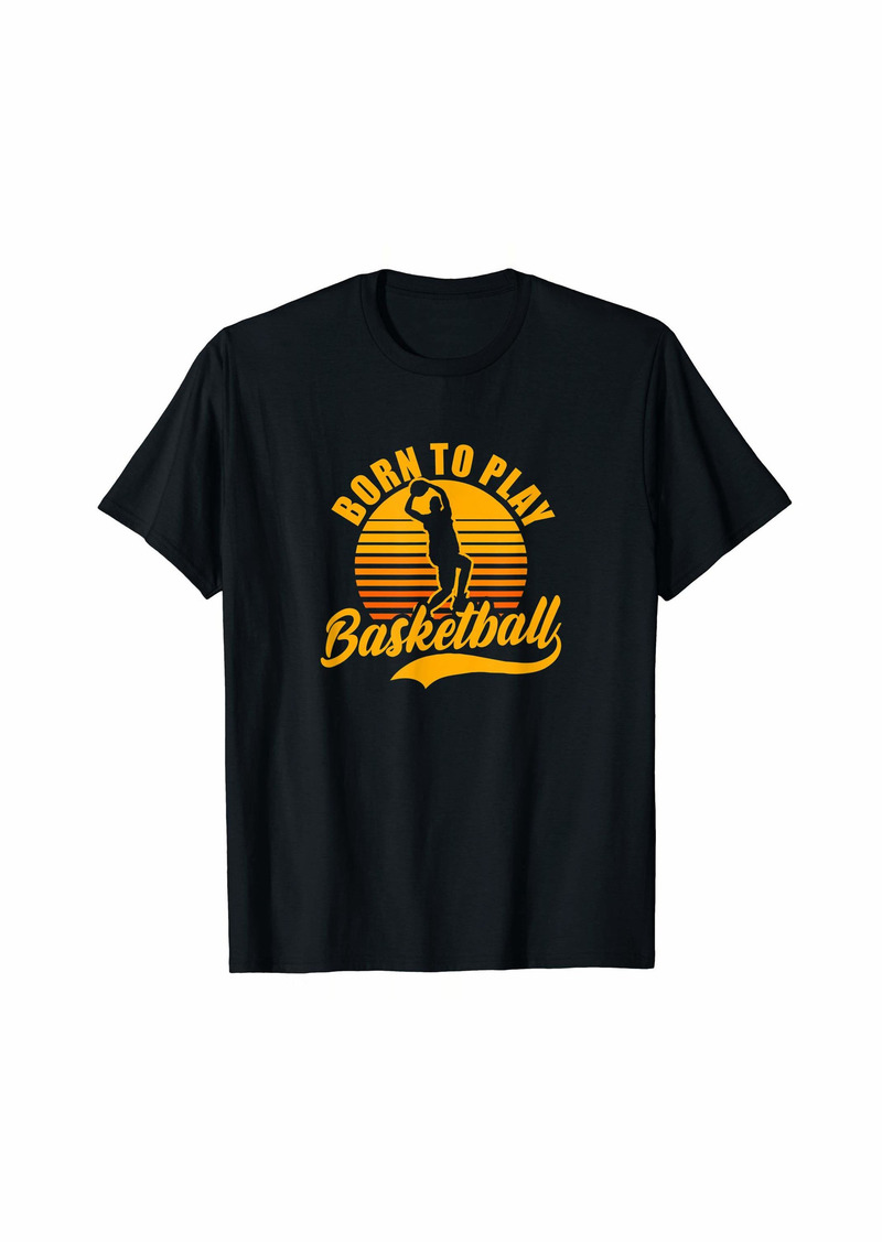 Coach Basketball Design Born To Play Gift T-Shirt