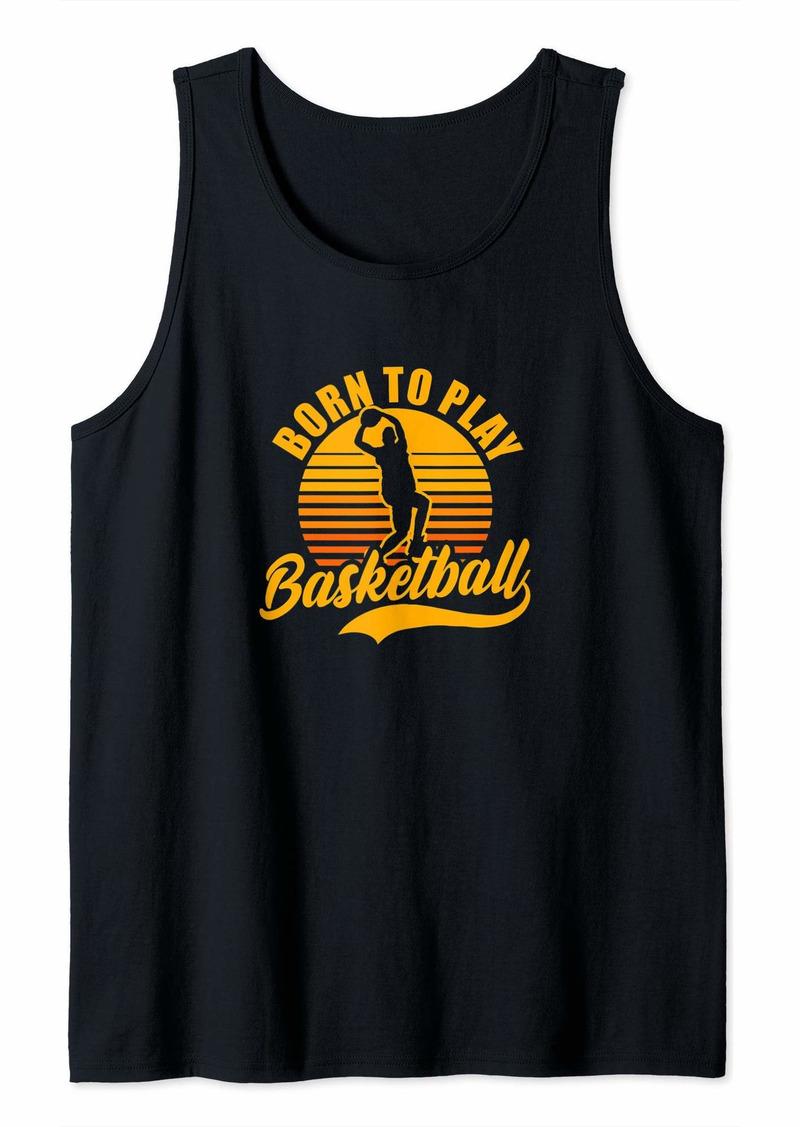 Coach Basketball Design Born To Play Gift Tank Top