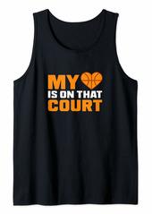 Coach Basketball Design My Heart On Court Gift Tank Top