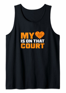 Coach Basketball Design My Heart On Court Gift Tank Top