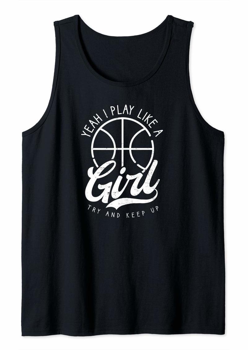 Coach Basketball Design Play Like A Girl Gift Tank Top