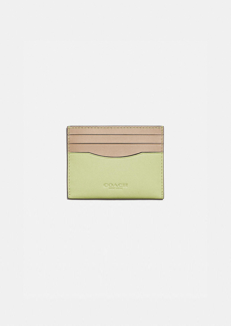 Coach card case in colorblock