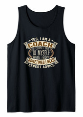 Coach I Trainer I Funny Phrase I Coach Tank Top