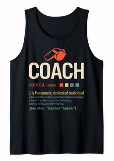 Coach Sport Health Definition Gym Coaching Teacher Leader Tank Top