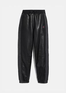 coach x champion leather sweatpants