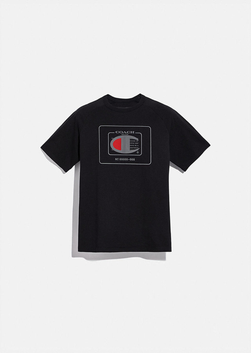 coach x champion men's t-shirt
