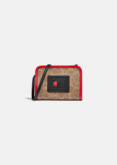 coach x champion rectangle pouch in signature...