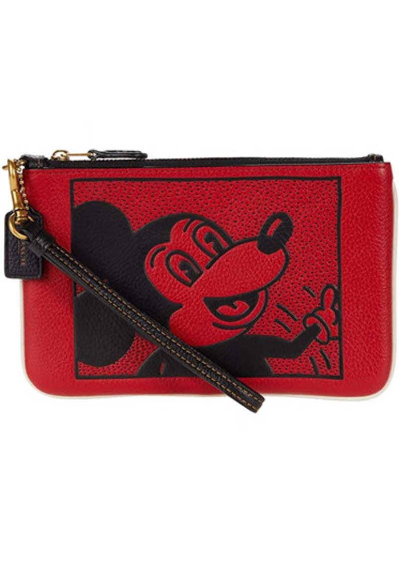 Coach X Disney Keith Haring Mickey Small Wristlet