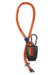 Coach Coated Canvas & Leather Lanyard Earbud Case
