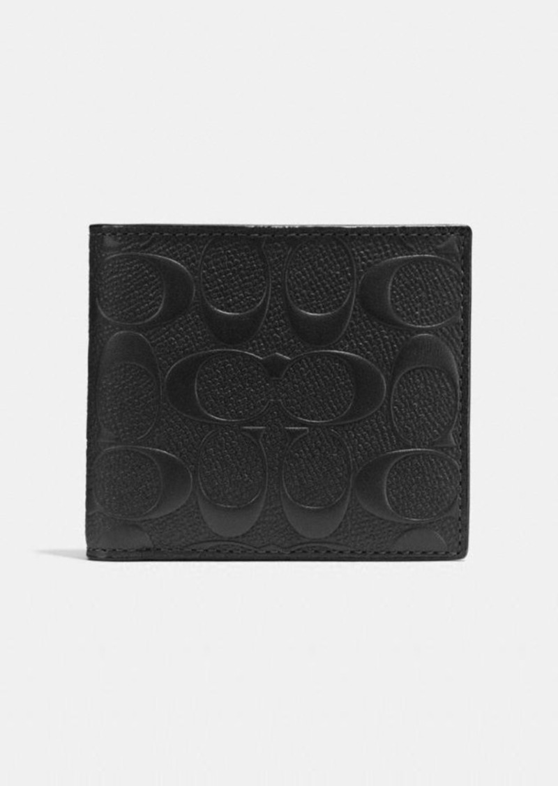Coach coin wallet in signature leather