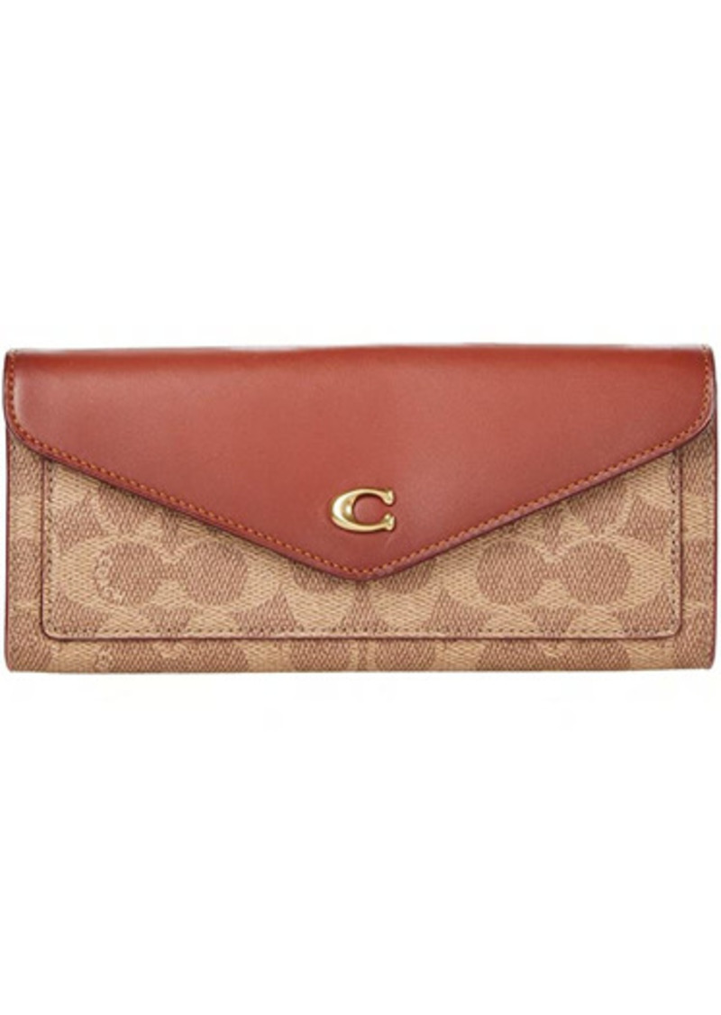 Coach Color-Block Coated Canvas Signature Wyn Soft Wallet