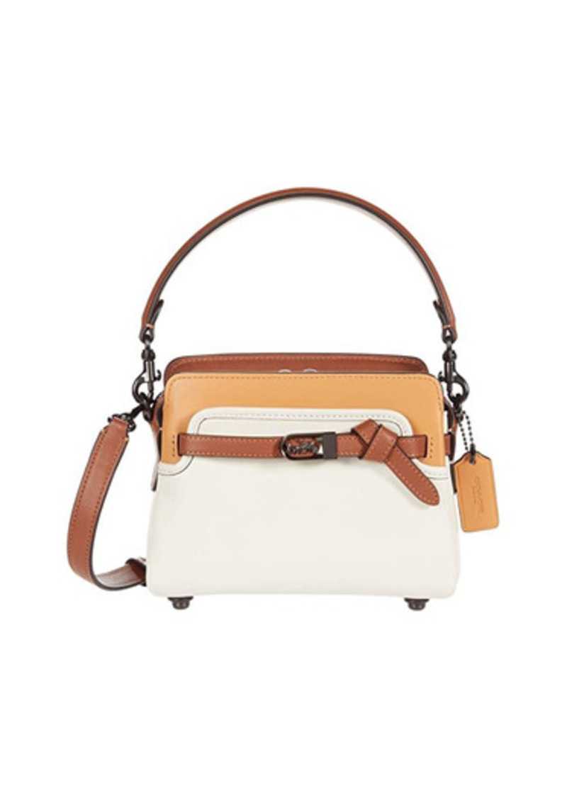 Coach Color-Block Leather Tate 18 Crossbody