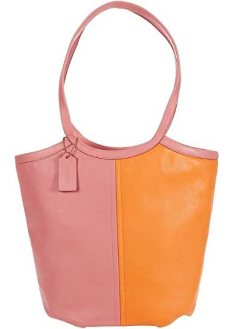 Coach Color-Block Soft Leather Tote