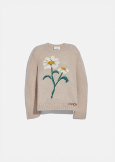 Coach daisy embroidered sweater