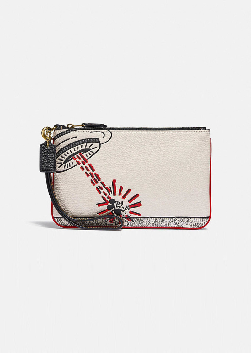 Coach disney mickey mouse x keith haring small wristlet
