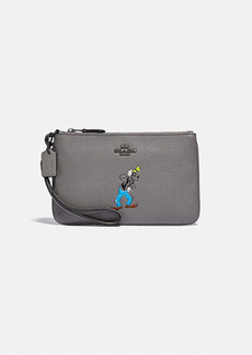 disney x coach small wristlet with goofy motif