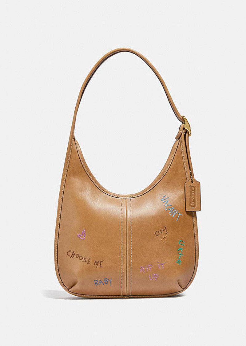 Coach ergo shoulder bag in original natural leather