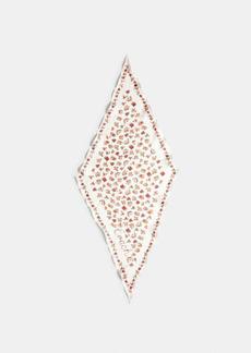 Coach essential tea rose silk diamond scarf