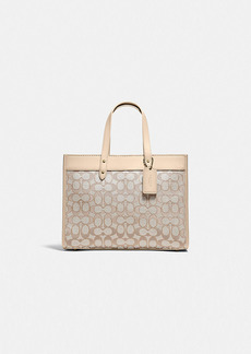 Coach field tote 30 in signature jacquard