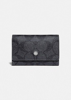 Coach five ring key case in signature canvas
